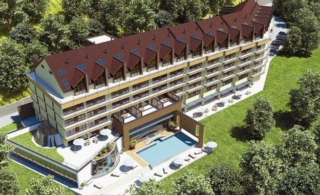 Nedokončený projekt. Takúto podobu apartmánového hotela s wellness a bazénovou časťou prezentovala spoločnosť Golden park v roku 2008 médiám. Otvárať sa malo v decembri 2009, no nestalo sa tak. V roku 2011 skončila firma v konkurze.