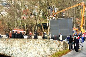 Nakrúcanie na starom moste v Gelnici