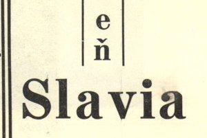 Jedna z mnohých reklám kaviarne Slávia.