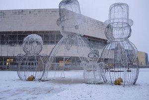 Sneží aj v Trenčíne.
