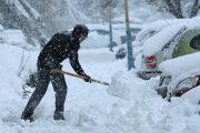 Sneženie vo Zvolene.