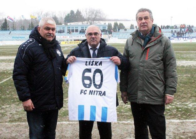 Vladimír Líška včera prijímal gratulácie.