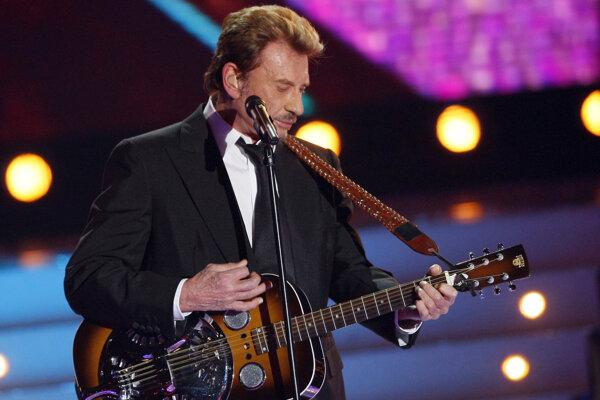 Johnny Hallyday bol najväčšou francúzskou rockovou hviezdou.