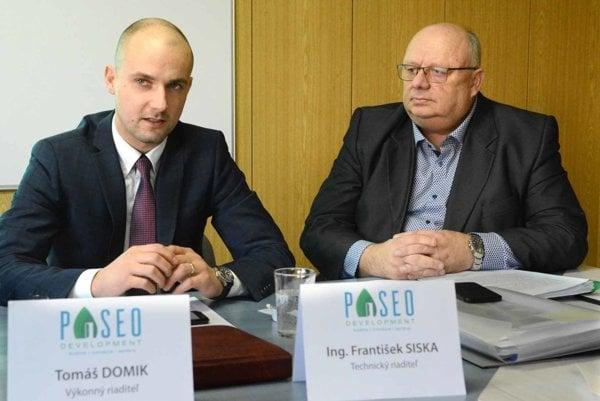 Zástupcovia Paseo Development. Tomáš Domik a Grantišek Siska.