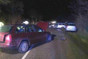 Dopravná nehoda v Lehote pod Vtáčnikom.
