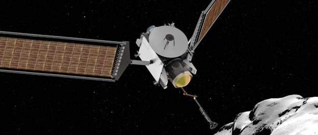 Umelecké zobrazenie misie CAESAR k sonde 67P/Churyumov-Gerasimenko.