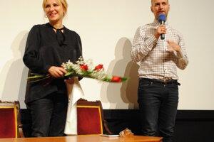 Galina Polunina a Milosh Harajda po predstavení filmu Dancer.