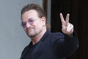 Spevák U2 Bono.