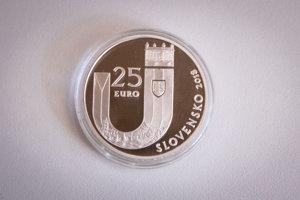 Rub pamätnej striebornej zberateľskej mince k 25. výročie vzniku SR.