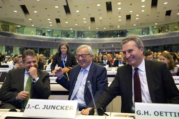 Jean-Claude Juncker a Günther Oettinger.