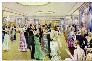 Historický obrázok znázorňuje ples v roku 1931.