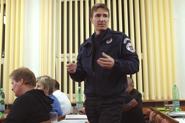 Peter Zamboj na zasadnutí mestského zastupiteľstva v novembri.