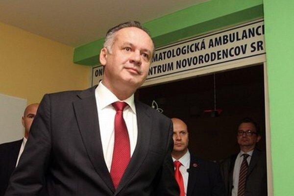 Andrej Kiska počas návštevy Banskej Bystrice zavítal aj do detskej fakultnej nemocnice.