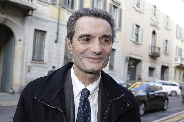 Kandidát na guvernéra Lombardska Attilio Fontana.