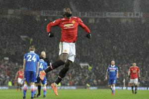 Romelu Lukaku sa raduje zo svojho gólu.