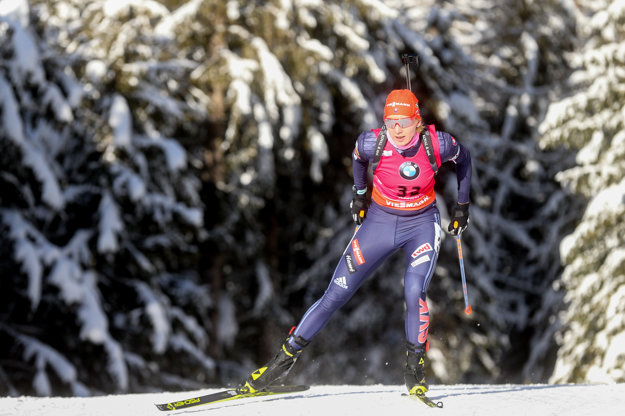 Anastasia Kuzminová počas pretekov v Anterselve.