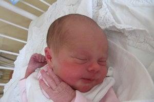 Eliška Balážová (2880 g, 50 cm) sa narodila 8. januára Michaele a Milanovi z Moravského Lieskového. Doma už majú sedemročného Milanka.