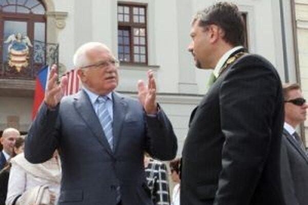 Český prezident Václav Klaus navštívil Banskú Bystricu