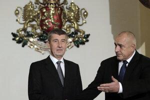Český premiér Andrej Babiš (vľavo) s bulharským premiérom Bojkom Borisovom.
