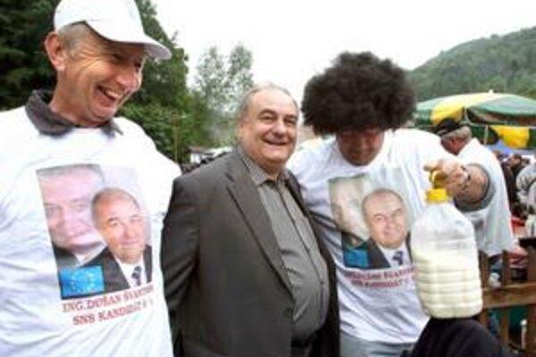 Dušan Švantner na haluškovej súťaži