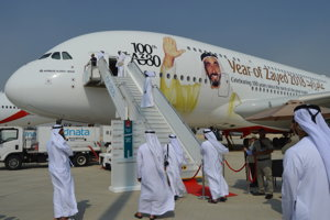 Stý Airbus A380 vyrobený pre aerolinky Emirates