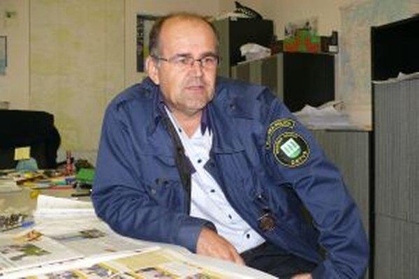 Mestský policajt z Detvy Ladislav Slahučka.