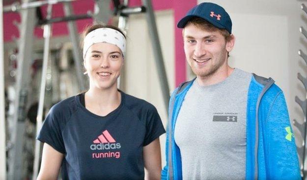 Šimon Klimčík s Petrou Vlhovou.