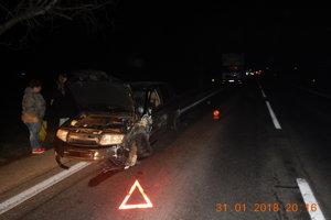 Nehoda sa stala vo večerných hodinách.
