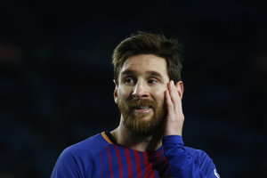 Lionel Messi asistoval na jediný gól v zápase.