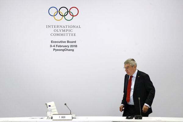 Prezident Medzinárodného olympijského výboru Thomas Bach.