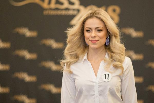 Finalistka súťaže Katarína Očovanová z Hriňovej.
