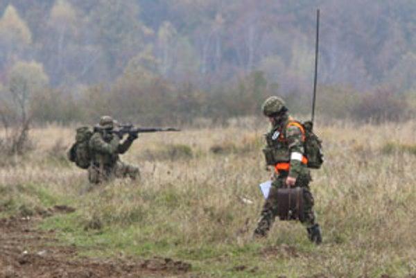 Vojenské cvičenie na Lešti.