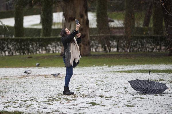 Nasnežilo aj v Madride.