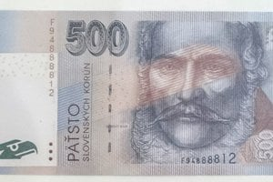 Hnedá slovenská päťstovka s podobizňou Ľudovíta Štúra.