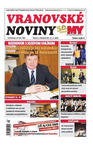 Vranovské noviny č. 5/2018.