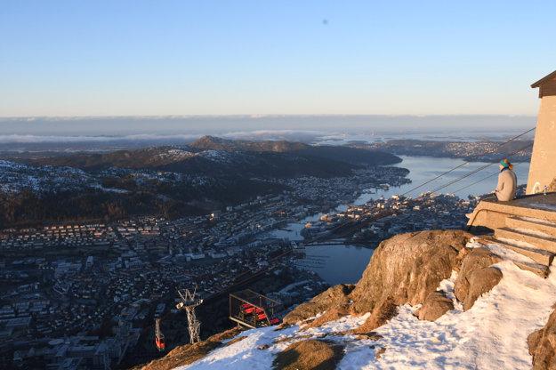 Výhľad z vrchu Ulriken