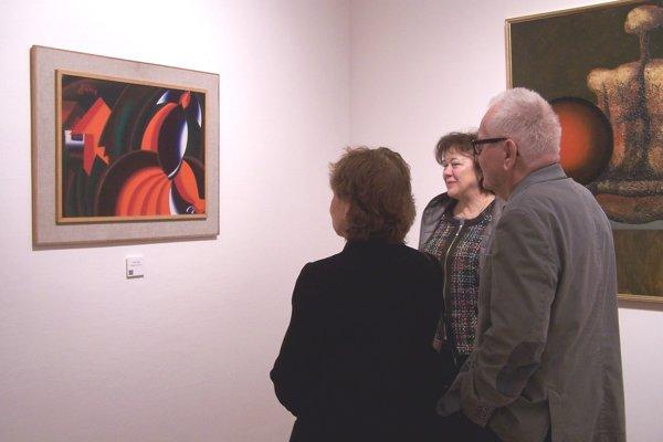 Návštevníci galérie obdivovali v Stále živej expozícii aj dielo Milana Laluhu.