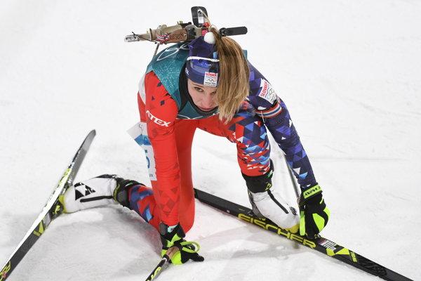 Paulína Fialková sa po dojazde do cieľa zvalila na kolená a ťažko dýchala. Pred pretekmi totiž bojovala s miernou virózou.