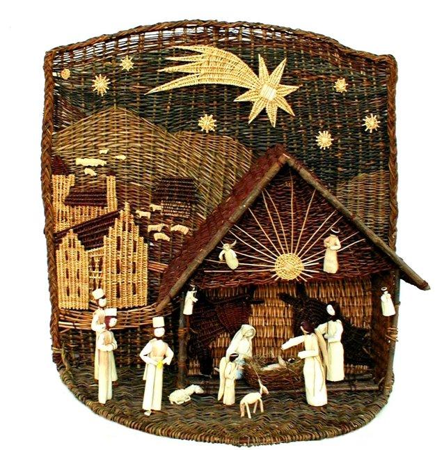 Betlehem z prútia.