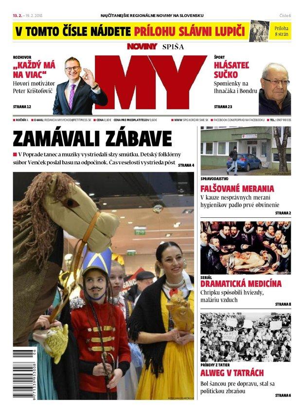 Titulka MY Noviny Spiša.