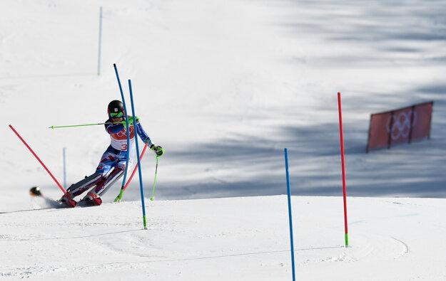 Petre Vlhovej sa olympijský slalom nevydaril.