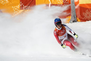 Švajčiarka Lara Gutová na medailu nedosiahla.