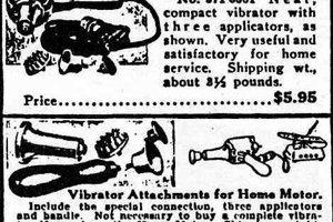 Reklama na prvé vibrátory - masážne nástroje.