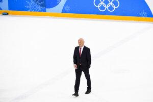 Tréner slovenských hokejistov Craig Ramsey po skončení zápasu.