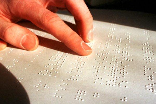 Braillove písmo.
