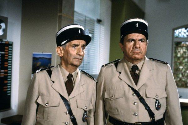 Michel Galabru mal 93 rokov. Vľavo jeho šéf Louis de Funes.