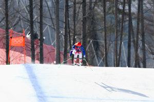 Slovenská lyžiarka Petra Vlhová počas preteku kombinácie žien v zjazdovom lyžovaní na ZOH 2018.