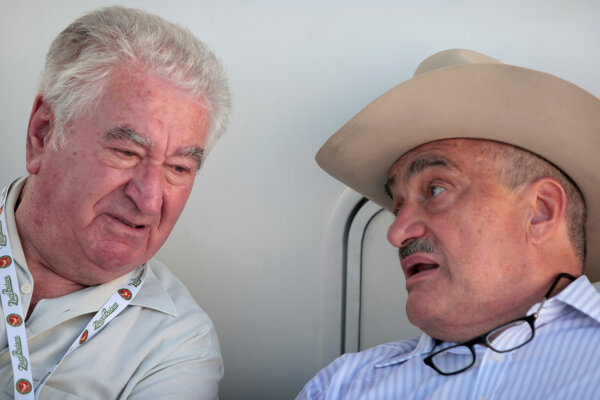 Anton Srholec a Karel Schwarzenberg na Pohode v roku 2010.