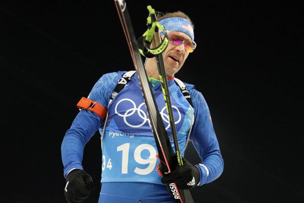 Člen amerického biatlonového tímu na olympiáde Lowell Bailey.