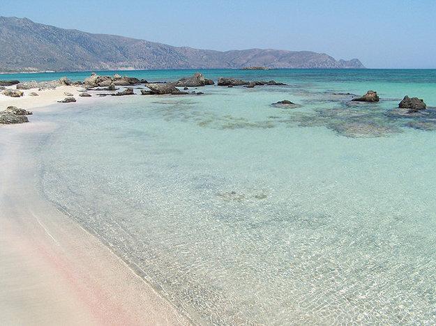 Grécko. Elafonisi. Pláž